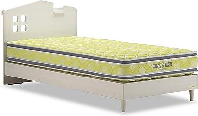 フランスベッド ベッドフレーム ホワイト シングル 【4梱包】VI-02C 260LGフレーム S 31873170