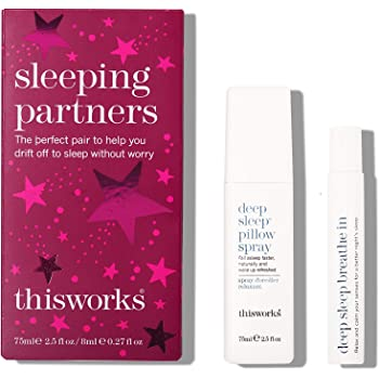thisworks Sleeping Partners Gift Set: Deep Sleep Pillow Spray 75ml & Deep Sleep Breathe In