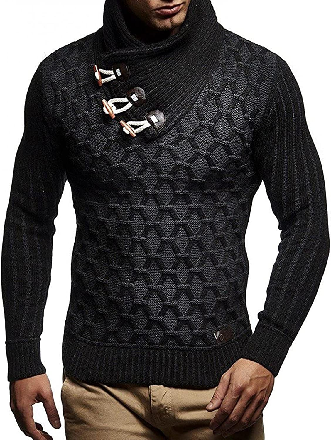 Mens Knitted Sweaters Long Sleeve Turtleneck Pullover Sweatershirts Lightweight Thicken Top Thermal Wool Blouse