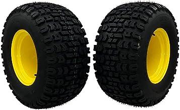 MowerPartsGroup (2) Wheel Assemblies fits John Deere 26x12.00-12 Replaces M121628