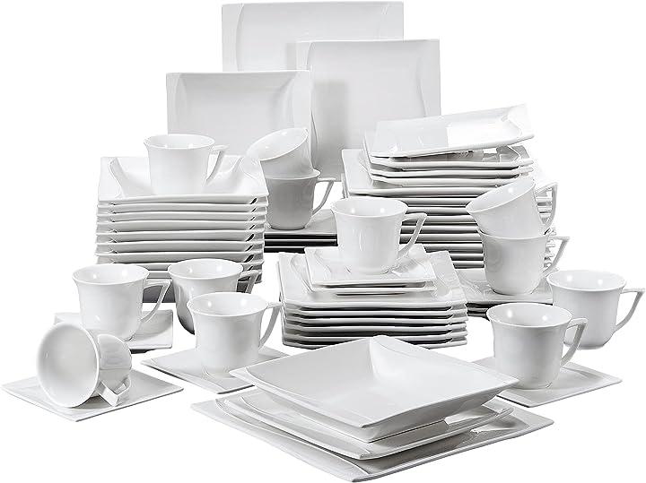 Servizio da tavola in porcellana 60 pezzi by malacasa BEA-IT-CR-30-2