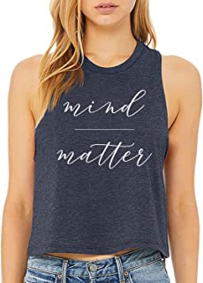 Crop Top for Women with Sayings Workout Summer Tank Cute Top for Women Shirts
