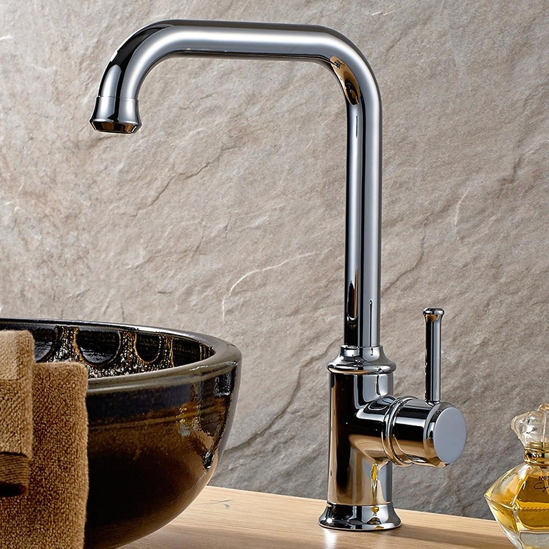 Kitchen Faucet, Retro All Copper Kitchen Faucets Basin Faucets Antique Bathtubs Hot & Cold Vegetable Saucer Kitchen Faucet ( color   Silver )