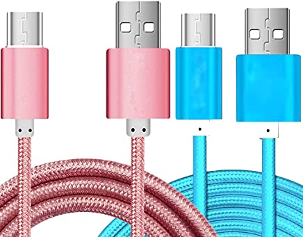 2Pack 5 Ft Micro USB Fast Charging Cord Charging Nylon Braided ...