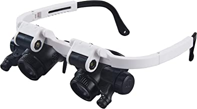 Holulo Head Mount Magnifier with Light,Headband Magnifying Glass,8X 23X LED Magnifying Glasses,Eye Loupe Headband Magnifier with Short Focus Distance for Jeweler Repair Watch