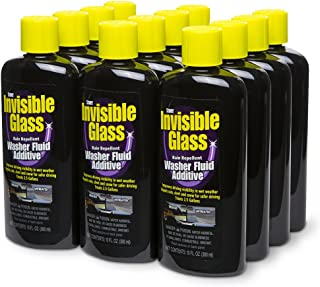 Invisible Glass 91491-12PK Premium Glass Cleaner with Rain Repellent Washer Fluid Additive 10-Ounce Bottle-Case of 12, 120 Pack