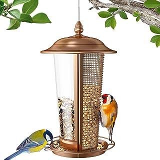 Sahara Sailor Mangeoire à Oiseaux, Mangeoires à Oiseaux Sauvages 2 en 1 pour L'extérieur, 2,5 LB Mangeoire à Oiseaux en Mé...