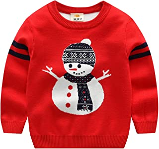 Baby Toddler Knitted Sweater Double Layer Sweatshirt Boys Girls Autumn Winter Christmas Elk Warm Pullovers