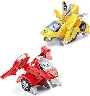 VTech Switch & Go Dinos Animated Dinos 2 Pack with T-Don & Tonn, Multicolor