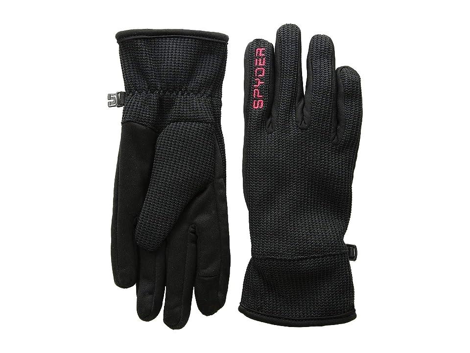 Spyder Bandit Stryke Gloves (Black/Black/Red) Extreme Cold Weather Gloves
