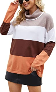Sponsored Ad - VIISHOW Women's Turtleneck Sweater Long Sleeve Cozy Warm Sweater Casual Lightweight Soft Pullover Jumper Tops
