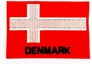 Denmark Flag A red Flag White Scandinavian Cross 2.75X2 in MEGADEE Patch Cartoon Kids Symbol DIY Iron on Patch Iron-On Des...