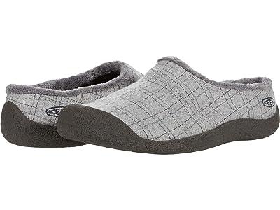 KEEN Howser Wrap Slide (Grey Felt/Plaid) Women