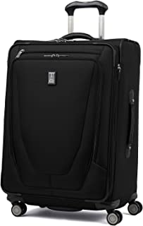 """Travelpro Crew 11 25"""" Expandable Spinner Suiter Suitcase, Black (Black) - 407166501"""