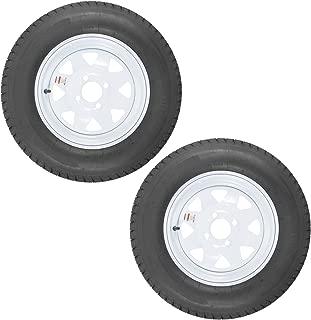 2-Pack Trailer Tire On Rim ST175/80D13 175/80 D 13 Load C 4 Lug White Spoke