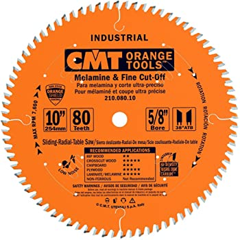 Cmt 221 060 10 Industrial Cabinetshop Saw Blade 10 Inch X 60 Teeth Tcg Grind With 5 8 Inch Bore Ptfe Coating Miter Saw Blades Amazon Com