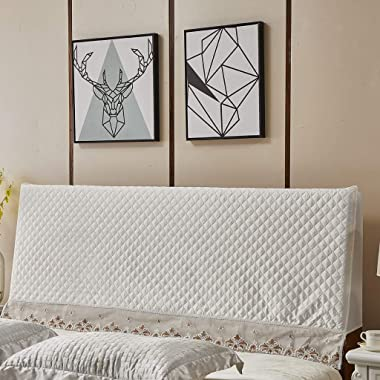XIMING Bed Headboard Cover Slipcover Protector All-Inclusive Dust-Proof - Beige, as described