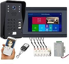 Wifi Video Deurbel, Vingerafdruk Wachtwoord Afstandsbediening APP Ontgrendel Video Deurtelefoon, Intercom, Nachtzicht Came...