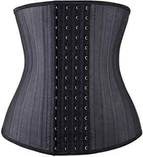 YIANNA Waist Trainer Corset for Weight Loss Latex Colombiana Waist Cincher Slimming Hourglass Body Shaper