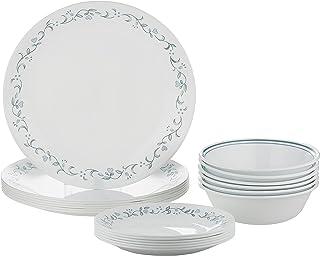 Corelle 1088624 Vitrelle Country Cottage 18 Pieces Dinnerware Set, Multi Color, Glass