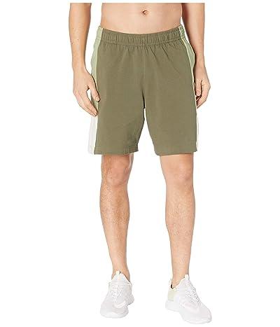 Nike NSW Shorts Jersey Color Block (Medium Olive/Oil Green/Light Bone/White) Men