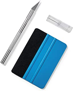 Volcanics Vinyl Squeegee Hobby Knife Set Window Tint Installation Kit Window Film Application Kit Wallpaper Smoothing Tool Craft Knife for Installing Contact Paper,Self-Adhesive Film,Car Window Film