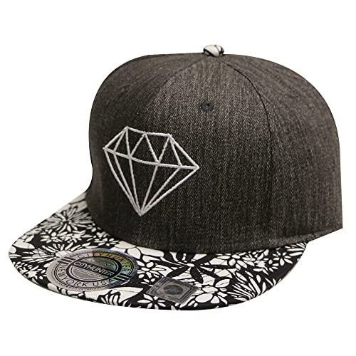 City Hunter Cf2050 Deinim Diamond Snapback Cap - Black d2f10319a8e9