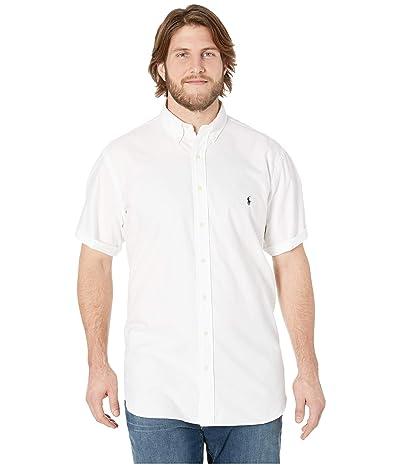 Polo Ralph Lauren Big & Tall Big Tall Solid Garment Dyed Oxford Short Sleeve Classic Fit Sports Shirt (White) Men