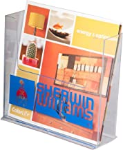 Clear-Ad - LHF-S150 - Acrylic Free Standing Bifold Brochure Holder Up To 7.5