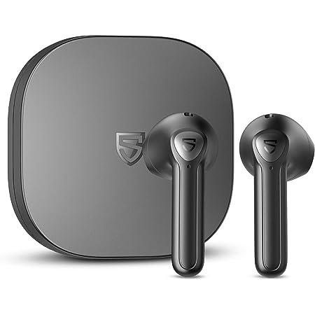 SOUNDPEATS TrueAir2+ ワイヤレスイヤホン aptX Adaptive / AAC サポート ワイヤレス充電対応 QCC3040チップセット搭載 低遅延ゲーミングモード bluetooth イヤホン 小型 TrueWireless Mirroring対応 4-mic ルートゥース イヤホン インナーイヤー型 サウンドピーツ 完全ワイヤレス イヤホン ヘッドホン (黒)