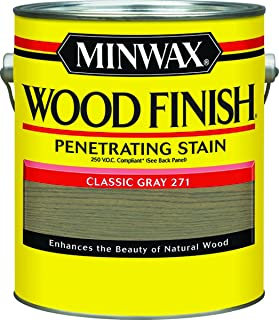 Minwax 71098 Wood Finish 250 Voc Compliant Penetrating Stain, Classic Gray, 1 Gal (Pack of 2)