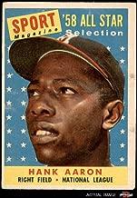 1958 Topps # 488 All-Star Hank Aaron Milwaukee Braves (Baseball Card) Dean's Cards 3 - VG Braves