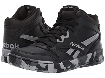 Reebok Kids BB4500 HI Court (Little Kid/Big Kid) (Black/Grey) Kids Shoes