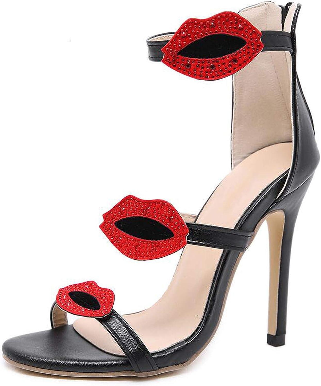 pink flowers High Heels Sandals Three Straps Sexy Stiletto Women shoes Summer Fashion Party Dress Sandals