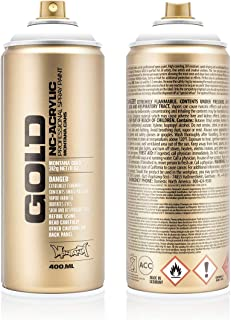 Montana Cans MXG-S9120 Montana Gold 400 ml Color, Shock White Pure Spray Paint,