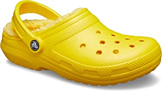 Crocs Men's Women's Classic Lined Clog | Warm and Fuzzy Slippers, Obstrucción Unisex Adulto