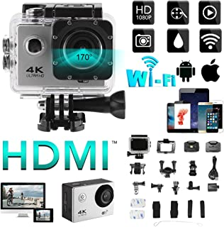 "XCSOURCE 4K WIFI Sports Action Camera 2.0"" LCD Display Ultra HD Water-resistant Cam 12MP DV Camcorder with Remote Control Wide Angle with Accessories Kits LF833"