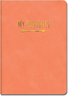 Studio Oh! Medium Leatheresque Journal, My Thoughts Crazy for Coral