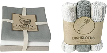 Now Designs Floursack Towel and Dishcloth, London, Set of 6