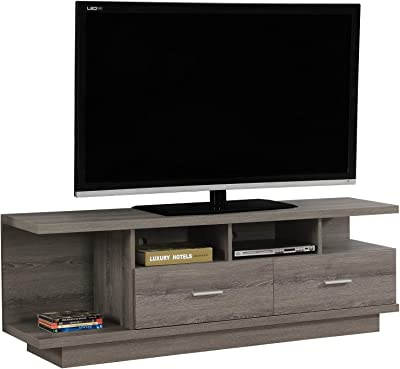 Sauder Beginnings 412995 Adjustable Highland Oak TV Stand for TVs up to 42
