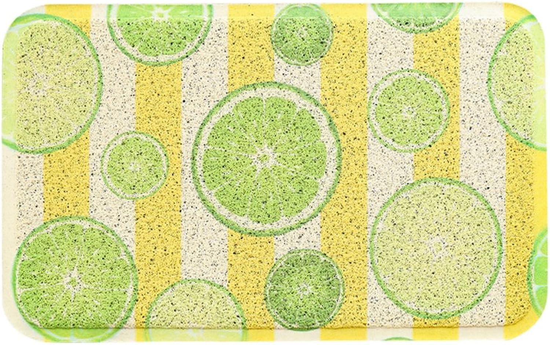 Door mat,Front Door Rug Entrance Door mats Anti-Slipping mats Floor mat Easy Clean Home Decorative-Lime 60x90cm(24x35inch)