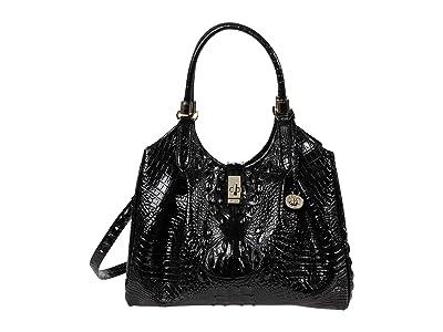 Brahmin Melbourne Celia Satchel (Black) Handbags
