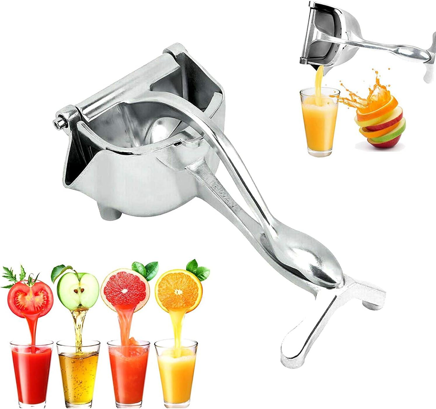 Exprimidor manual, prensa de fruta portátil, exprimidor de limón, naranja, exprimidor de frutas, exprimidor de cítricos, herramienta para todo tipo de frutas sin casco