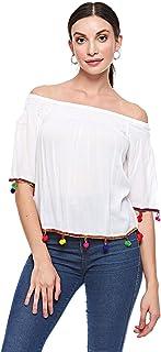 BRAVE SOUL Blouses For Women, Cream, Size XS