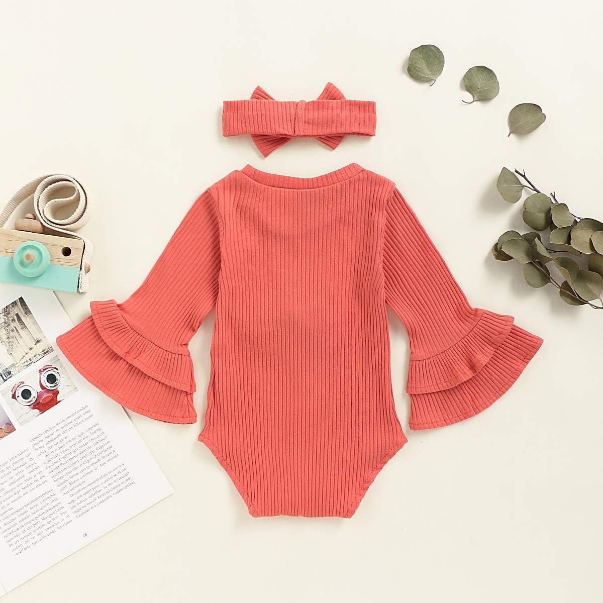 0-18M Infant Baby Girl Grid /& Stripe Bowknot Ruffle Romper Jumpsuit Bodysuit