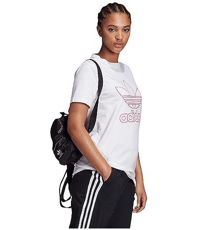 adidas Originals Trefoil Tee (White/Power Pink) Women