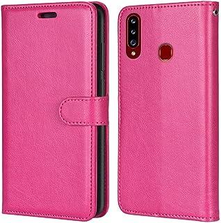 Laybomo Carcasa para Samsung Galaxy A20s A207F Tapa Funda Cuero Estilo-Sencillo Monederos Billetera Bolsa Magnética Protec...