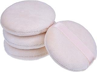 Esponja del Soplo de Polvo Cosmético Borlas Faciales Fundación del Maquillaje Suave Esponja de Herramientas, 2.75 Pulgadas, Paquete de 4