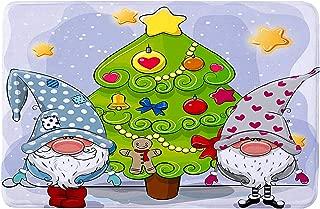 VIGEIYA Christmas Doormat Outdoor Indoor Non Slip Absorbent Holiday Winter Decorative Floor Mat 23 x 16 in