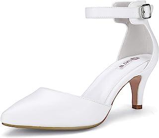 Women's IN3 D'Orsay Low Kitten Heels 3 Inch Wedding Dress...